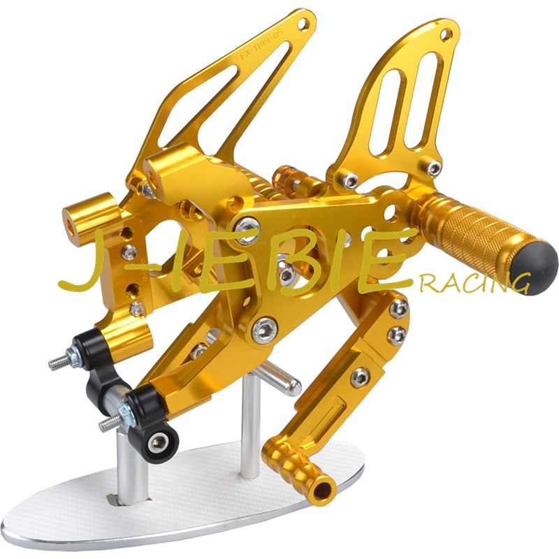 CNC Racing Rearset Adjustable Rear Sets Foot pegs Fit For Ducati 899 959 1199 1299 Panigale 2012 2013 2014 2015 2016 GOLD