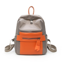 Dropshipping Women Backpack Color Blocking Small Bag High Quality Nylon Daily Brand Bookbag For