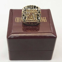 Cost Price 2001 Arizona Diamondback World Series Baseball Replica High Quality Championship Ring With Gorgeous Wooden