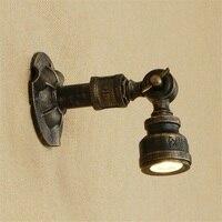 Americano de Ferro Girando Lâmpada Tubulação De Água LEVOU Arandela Luminárias de Parede Antigo Loft Estilo Industrial Do Vintage Lampara Pared