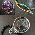 Universal Motorcycle Dual Odometer Speedometer Gauge LED Backlight Signal Light Free Shipping