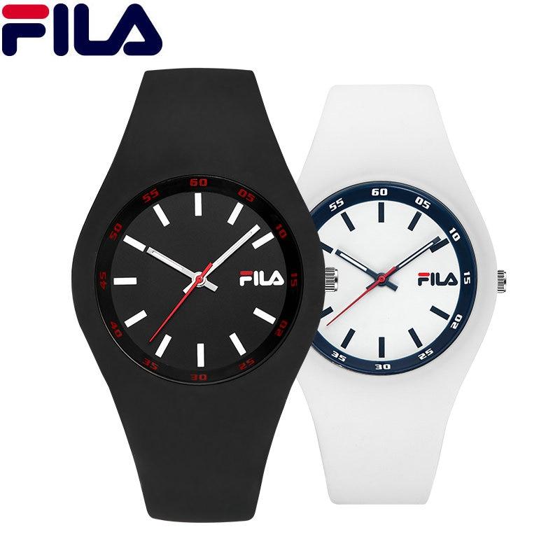 Fila Sports Quartz Watch Top Brand High Quality Casual Simple Style Silicone Strap Women Men Lovers Wrist Watch Fashion 777