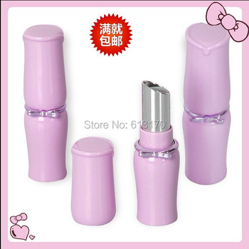 50pcs/lot 4g Empty Lipstick Tubes Purple cute Lip balm Container DIY LIp gloss Packing container diameter 12.1mm