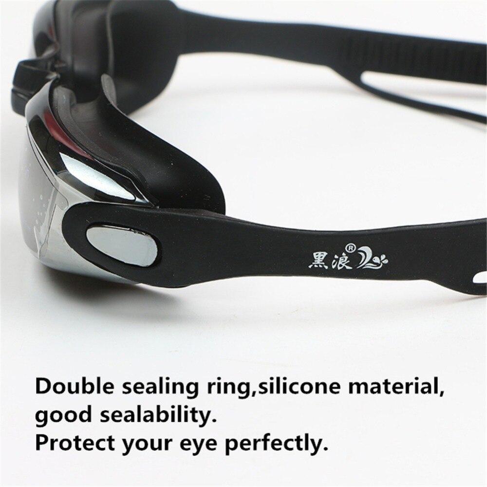 Professional Silicone myopia Swimming Goggles Anti-fog UV Swimming Glasses With Earplug for Men Women diopter Sports Eyewear 5