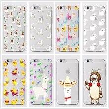 DK For iPhone 7 8 6 6s plus 5 X XS XR XSMax SAMSUNG S9 S8 Kawaii Cute Llama Alpaca Animals Cartoon Hard Printed Phone Case Cover