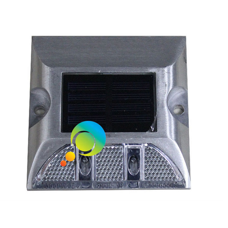 One Side White Color 3M Reflector Aluminum Road Safety Solar LED Road Stud
