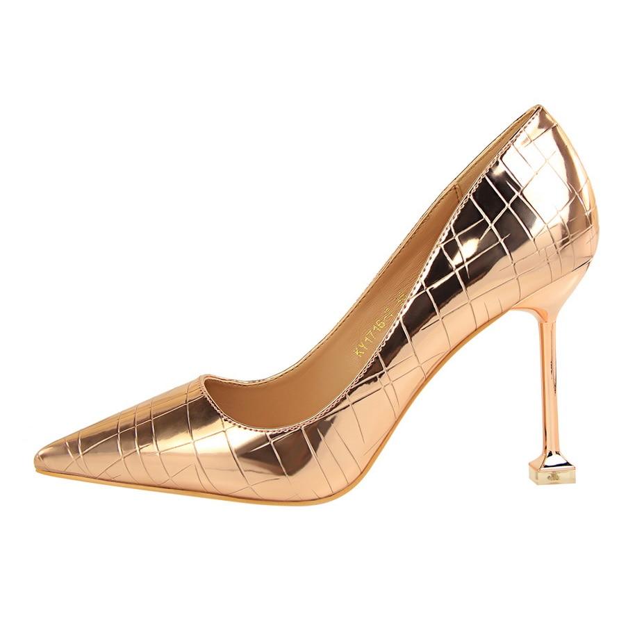 Sexy 2 Orteil De Serpentine 7 Ds Cm Haute Pointu Profonde Minces Super Glitter a0108 4 5 9 5 Marque 1 Femmes Peu 3 Pompes 6 Talons Chaussures 5tPw11