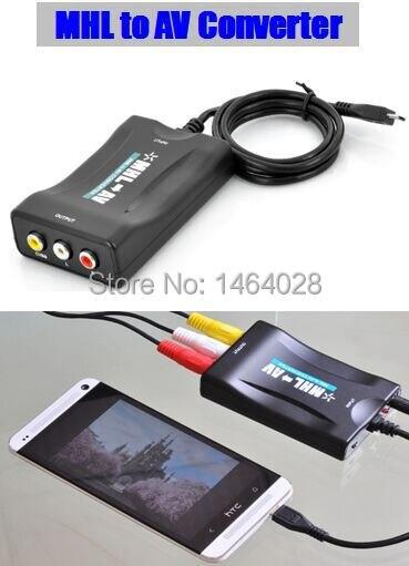 MINI MHL to AV/RCA/CVBS adapter converter smartPhone MHL