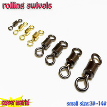 2017 new fishing rolling swives ,copper material,samll size 3#---14# quantity:200pcs/lot