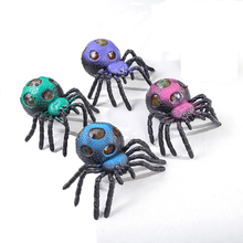 4PCS Halloween Funny Whole Person Toy Spider Vent Ball Creative Animal Grape Horror Children Holiday Game Gift