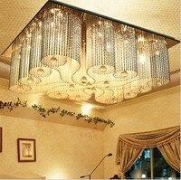 Кристалл сочетание 75 см Crystal LED K9 независимые свет лампы освещения G4 E14 спальня столовая EMS Бесплатная доставка sj106