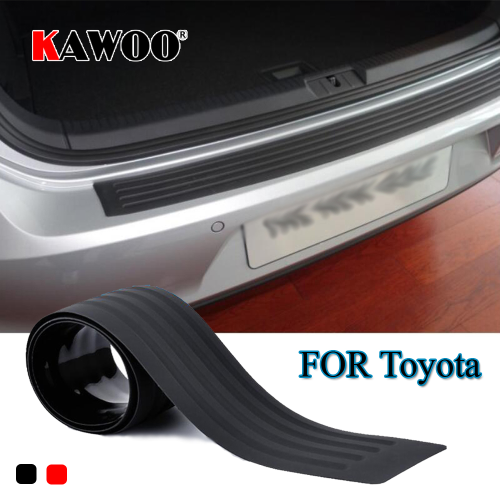 KAWOO For Toyota RAV4 Camry Highlander Crown Corolla CELICA Rubber Rear Guard Bumper Protect Trim Cover