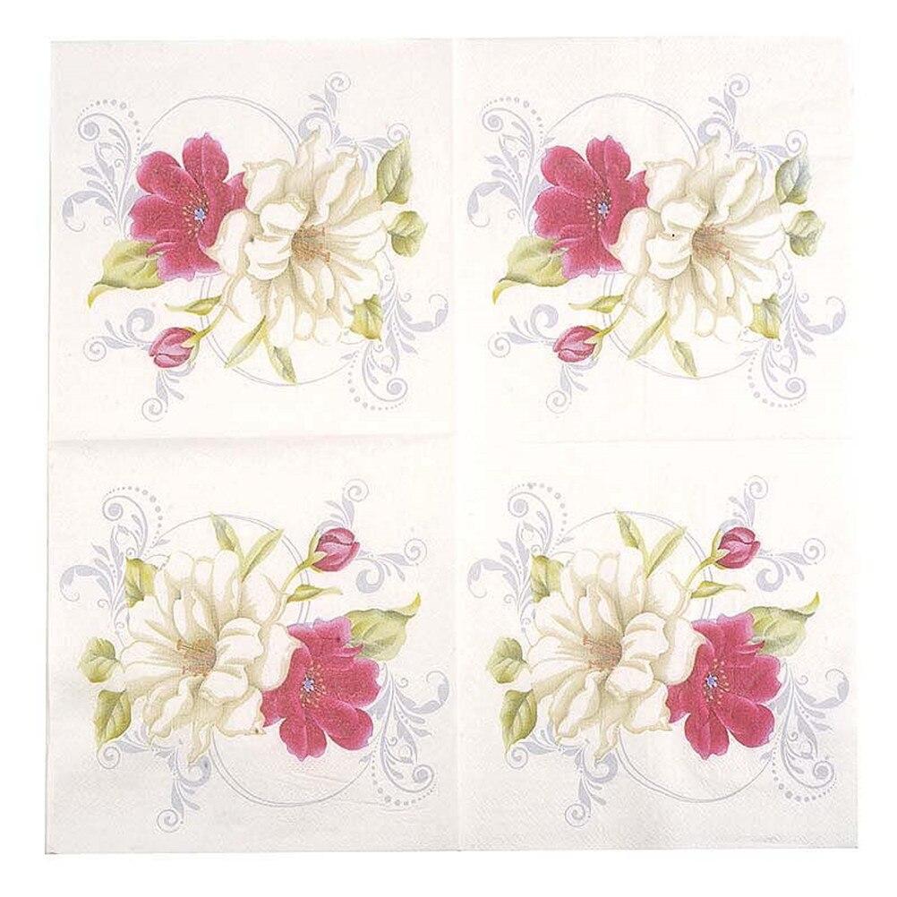 Decor Napkins Paper Decoupage Flower Lily Cocktail Servetten