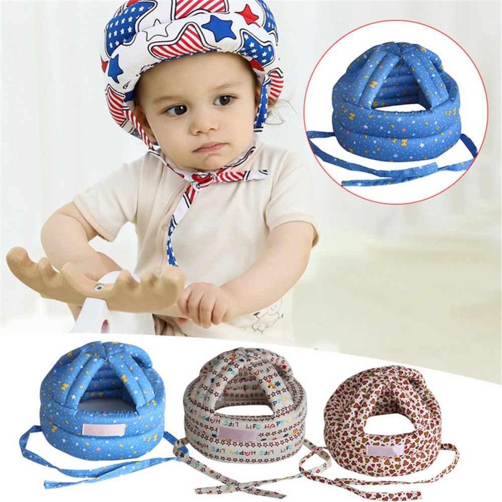 Baby Toddler Cap Anti-collision Protective Hat Baby Safety Helmet Soft Comfortable Head Security&Protection Adjustable baby safety helmet toddler headguard hat protective infants soft cap adjustable for crawl walking running outdoor playing
