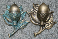 Vintage Acorn Brass Ring Pull Door Pulls Handle Door Knob Knockers Bronze Verdigris Metal Pull Ring Antique Decor Free Shipping
