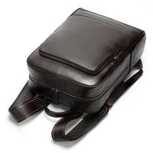 Image 5 - MVA sacs à dos en cuir véritable pour homme, cartable de grande capacité, sac à dos pour ordinateur portable étanche, sac de voyage, sac de jour pour adolescent
