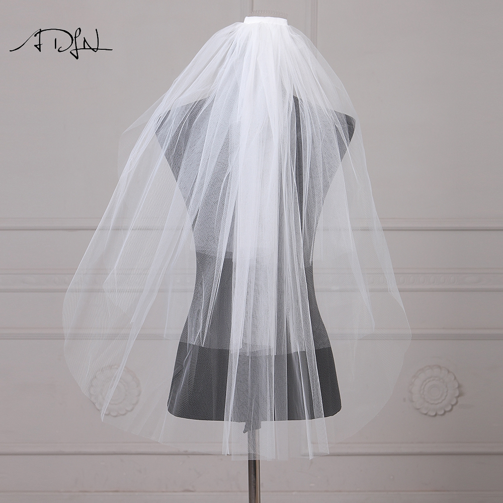 Simple Ivory Short Wedding Veil Wedding Accessory Soft Tulle Bridal Veil With Comb