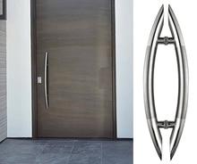 Длина 600 мм арка стиль вход потяните ручки элегантный дизайн современный нержавеющей стали древесины двери тяни-толкай ручки HM67