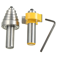 High Quality 1 2 Shank Carbide Rabbet Router Bit Milling Tool With 6 Bearings Set For