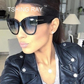 TSHING RAY Tom Fashion Brand Designer Cat Eye Women Sunglasses Big Female Gradient Points Sun Glasses Oculos feminino de sol TF