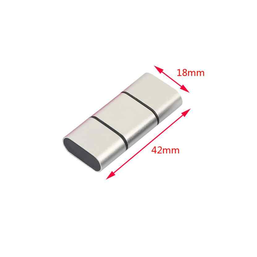 Haute qualité en aluminium OTG USB 2.0 C type-c carte lecteur adaptateur TF, Micro SD, SDXC Super haute vitesse Transmission de données