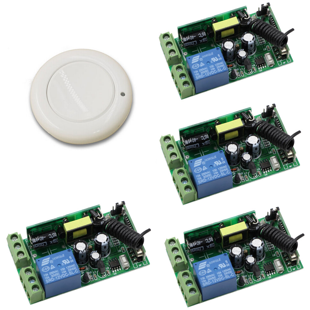 AC 85V-250V Wireless Remote Control Switch System 1CH Relay Module Wireless Remote Transmitter Receiver ac 85v 250v wireless remote control switch remote power switch 1ch relay for light lamp led bulb 3 x receiver transmitter