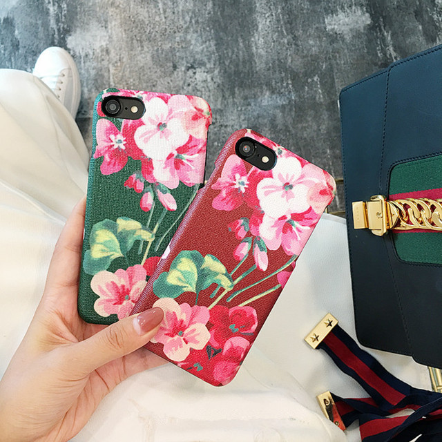 Luxury Brand Flower Hard Case for iPhone 7Plus 6 6s 7 8...