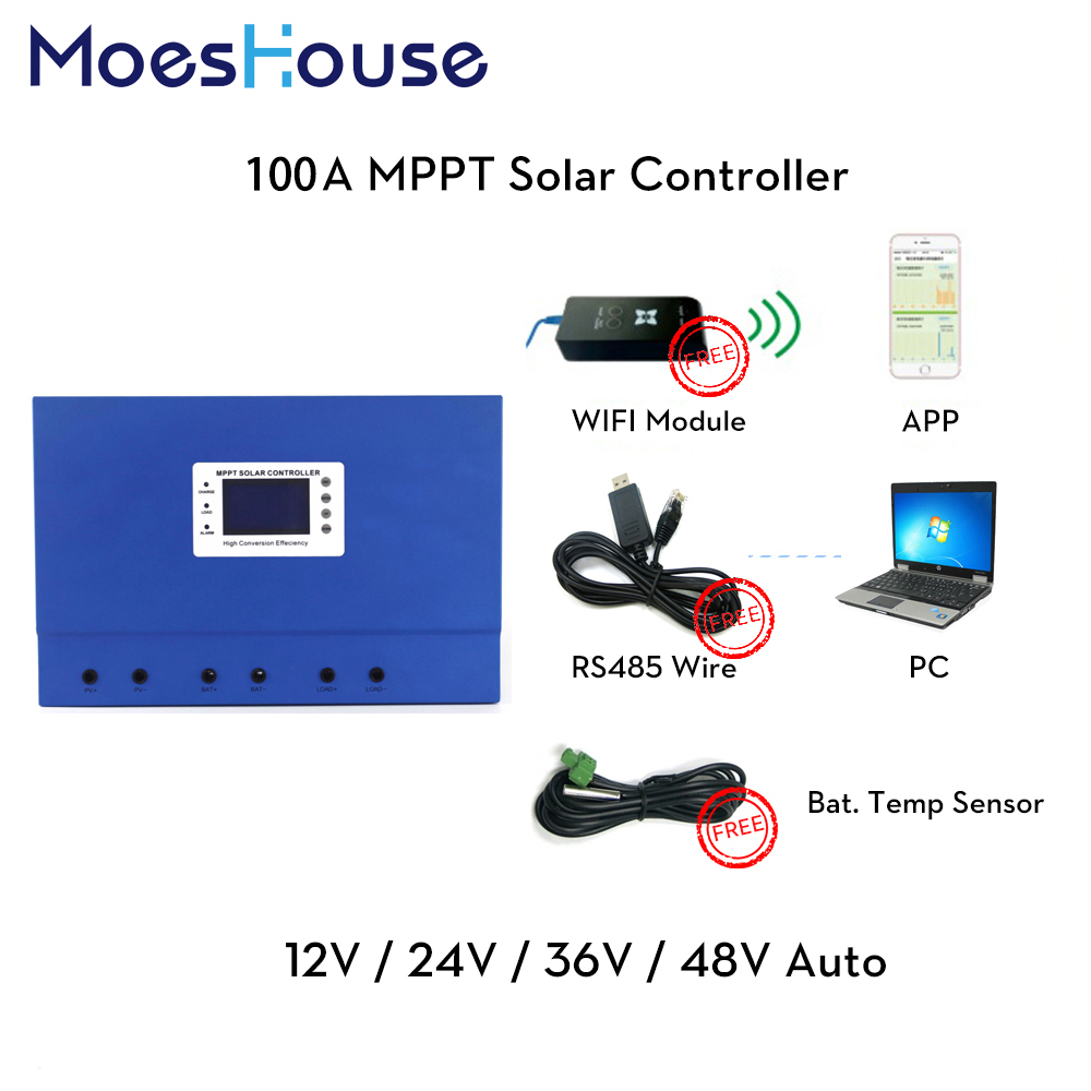 100A 50A Master MPPT Solar System Charge Controller with Mobile Remote Monitor RS485 Communication DC 12V 24V 36V 48V Auto 96V100A 50A Master MPPT Solar System Charge Controller with Mobile Remote Monitor RS485 Communication DC 12V 24V 36V 48V Auto 96V