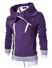 ZOGAA 2019 Casual Solid Mens Hoodies Turn-down Collar Men Sweatshirt Zipper Outwear 6 Colors Coat