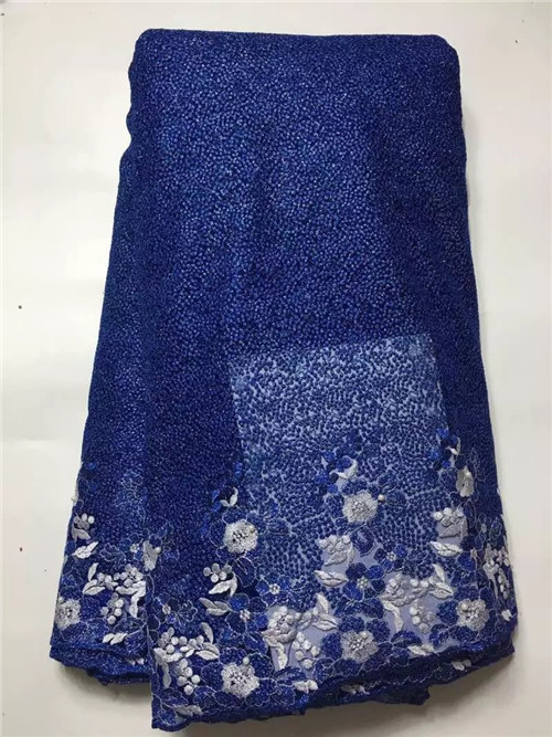 Latest Style African Stones Lace Fabric 2016 Fashion African Lace Fabric Tulle African French Lace Fabric High Quality