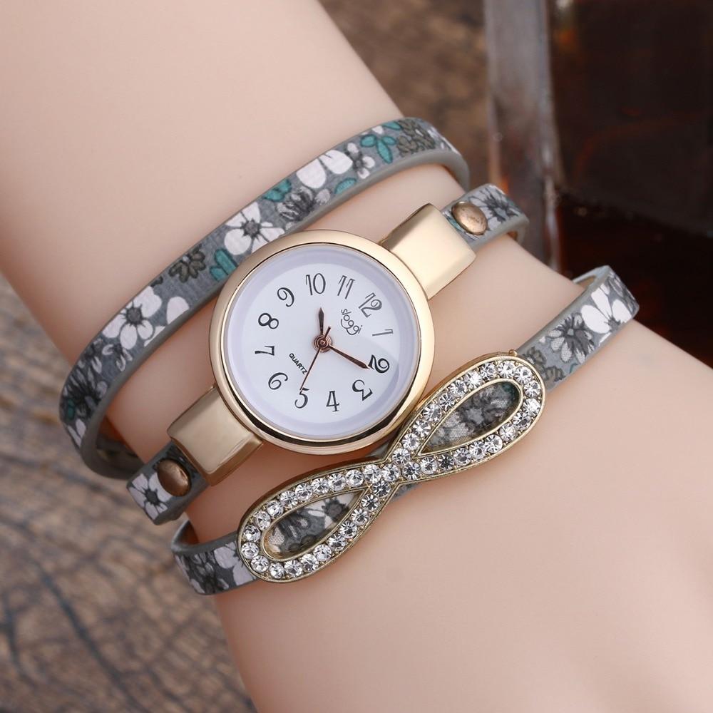 2018 Femmes Montres De Mode Croix Amour Bowknot Motif Dames Robe Montre  Impression En Cuir Bracelets Montre Diamant Montres À Quartz c30df0e91d64