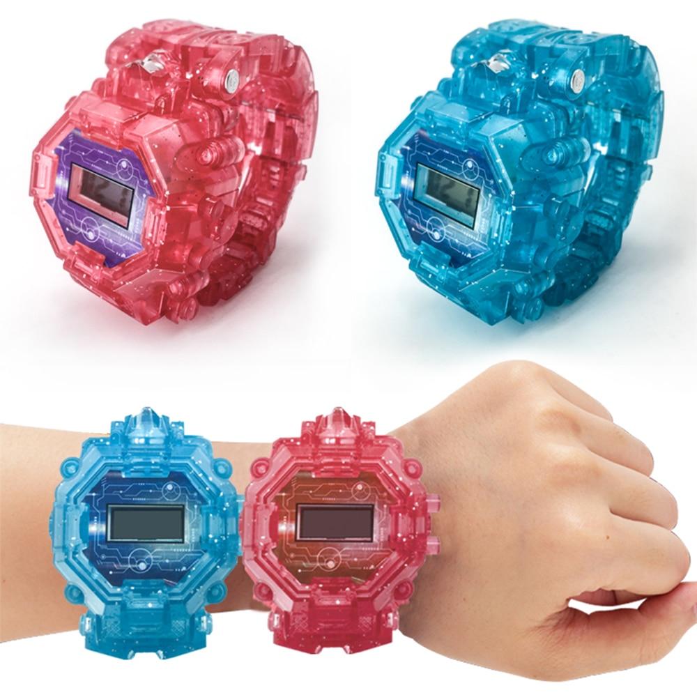 Luminous Deformation Watch Robot Transformation Watch Toy Mech Robot Electronic Watch Children Sports Cartoon Watch Kid Gifts