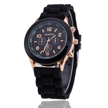 2019 Fashion Quartz Watch Women Silicone Band Ladies Girls F