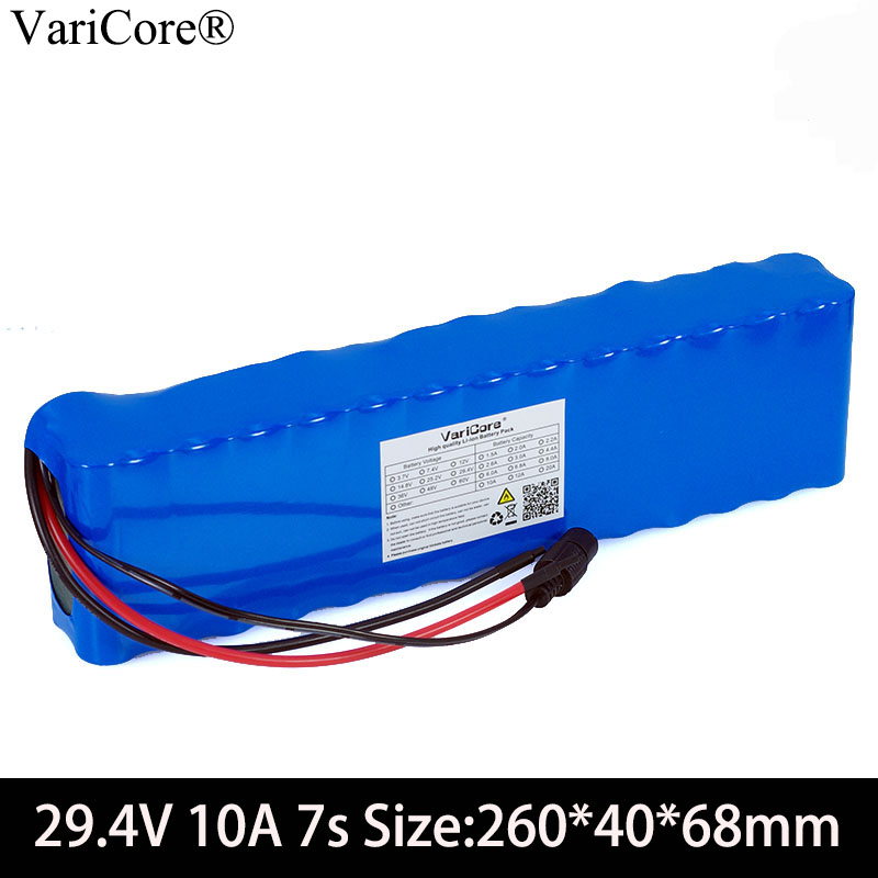 VariCore 24V <font><b>10ah</b></font> 18650 Battery <font><b>29.4V</b></font> 10000mAh Electric Bicycle moped /electric/lithium ion battery pack +BMS protection image