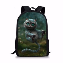 Noisydesigns Lovely Cats Backpack Vivid Mochila School Bag Adolescent Girls Cheshire Kitten Bag Cartoon Printed