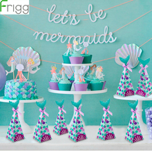 Frigg Little Mermaid Party Supplies Theme Decor Banner Balloon For Kids Favor Happy Birthday Wedding Deco