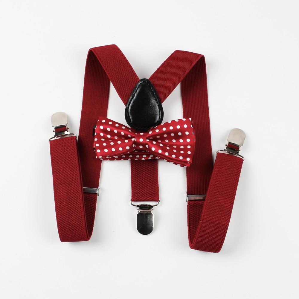 "Toddlers New 1"" Red Suspenders Baby Made in US Boys Elastic Adjustable Kids"