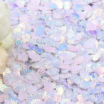 15g Iridescent Sparkle Shell Glitter Confetti 7MM Purple For Baby Shower Confetti Party Table Scatter Decor DIY Supplie