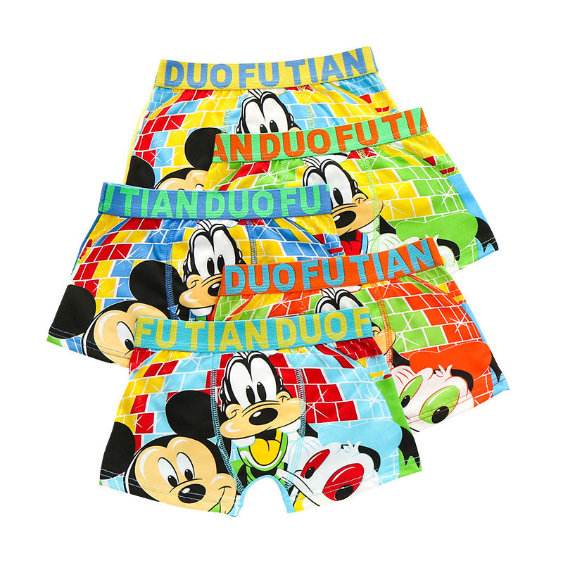 10 Pieces/Lot Panties Children Cotton Underwear Baby Boys Underpants 2019 Cartoon Mickey Briefs Kids Boxer Shorts Clothing