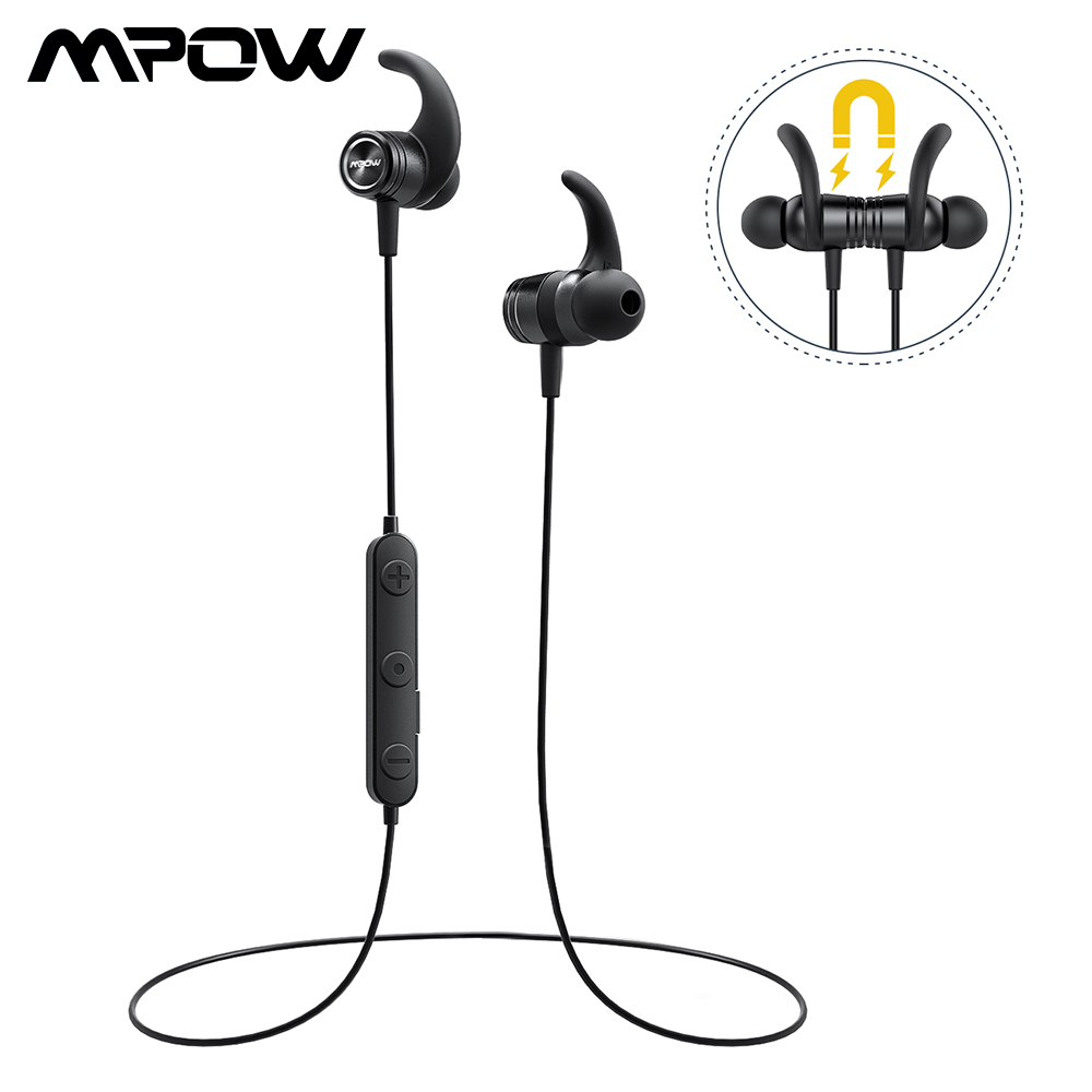 New Mpow BH303A Wireless Bluetooth Earphones IPX7 Waterproof Earphone Handsfree Sport Headphones With Mic For iPhone Android PC mpow judge bluetooth earphones magnetic ipx7 waterproof sport earphone wireless earbuds with microphone for iphone x 8 7 6