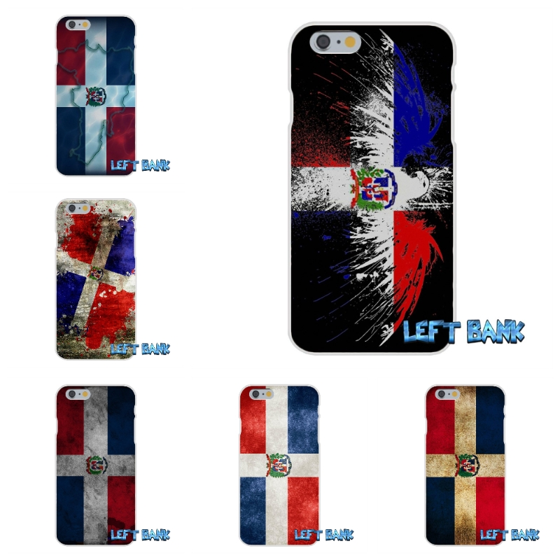 Dominican Republic Flag Soft Silicone TPU Transparent Cover Case For iPhone 4 4S 5 5S 5C SE 6 6S 7 Plus
