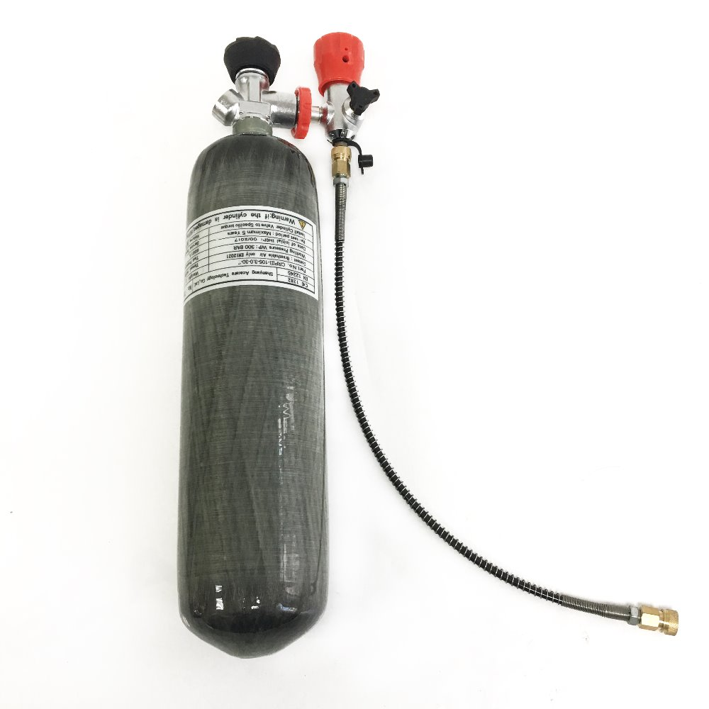 AC103101 3L Scuba Diving Tank Carbon Fiber Gas Cylinder Paintball Mini Air Tank 4500psi Composite Air Rifle Pcp Condor Acecare