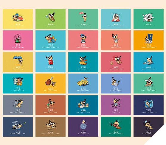 Hot selling business cards 30pcsdiy cute cartoon dogs idea hot selling business cards 30pcsdiy cute cartoon dogs idea postcard set greeting card reheart Gallery