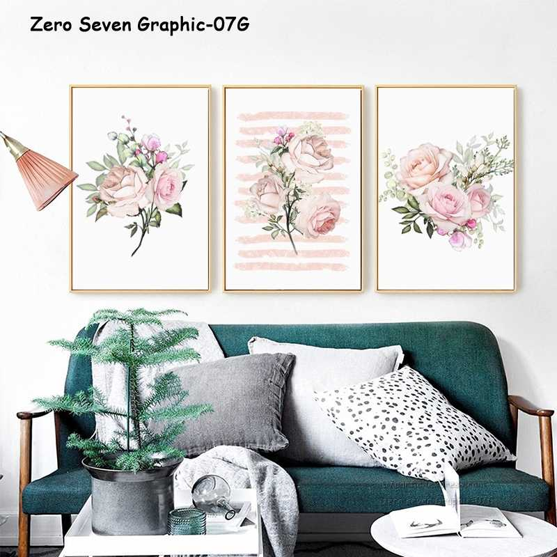 Modern Decor Abstract Texture Flower Rose Canvas Painting Poster And Print Picture Art Wall Living Room Bedroom Home Decor