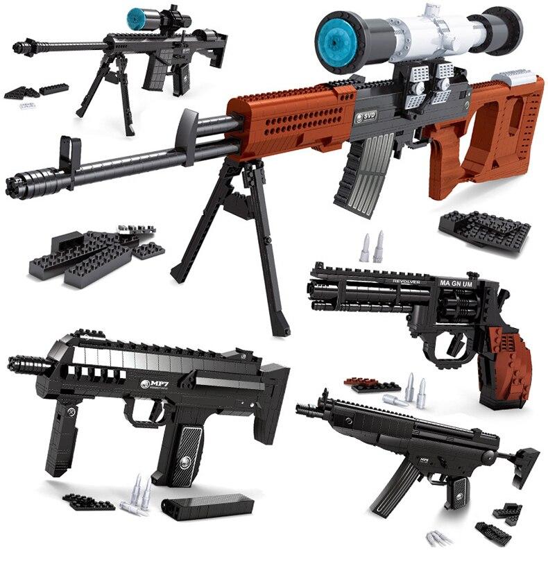 300 шт. DIY nerfs Elite пистолет fiveshooter пистолет игрушечный пистолет модели Building Block Набор Пластик Игрушечные лошадки комплект подарок для детей