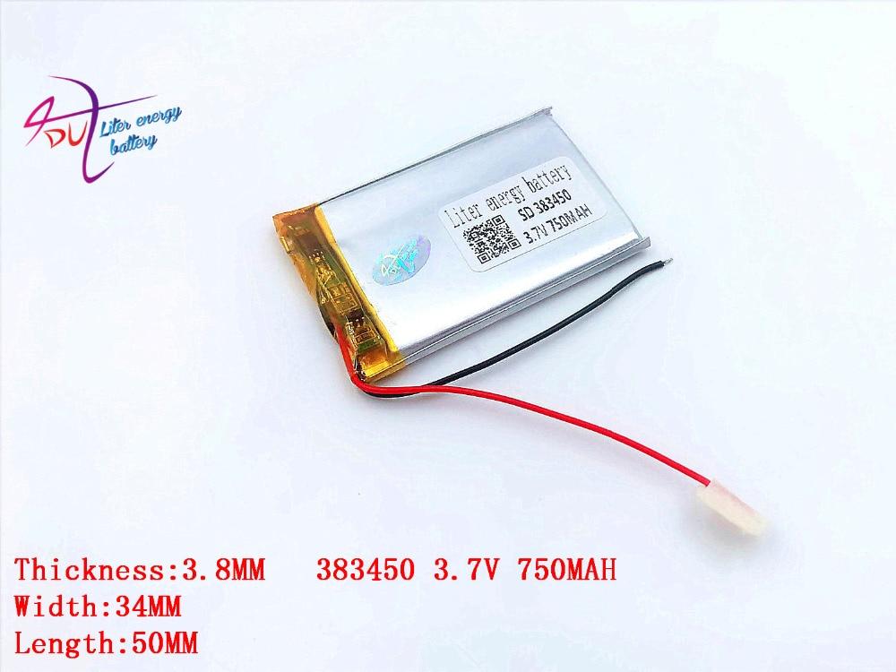 Batterien Gut Ausgebildete 3,7 V Lithium-polymer-batterie 383450 403550 750 Mah Mp3 Mp4 Fahrzeug Recorder Navigator Liter Energie Batterie Unterhaltungselektronik