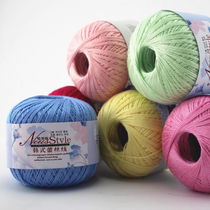 8pcs Hot Sale Multi Color Cotton Silk Knitting Yarn Soft Warm Baby Yarn for Hand Knitting Supplies 400g/lot