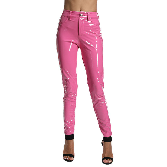 New Color Women PU Leather Pant Sexy Stretch 2019 Bodycon Winter Women Pants Trousers Pencil Pant