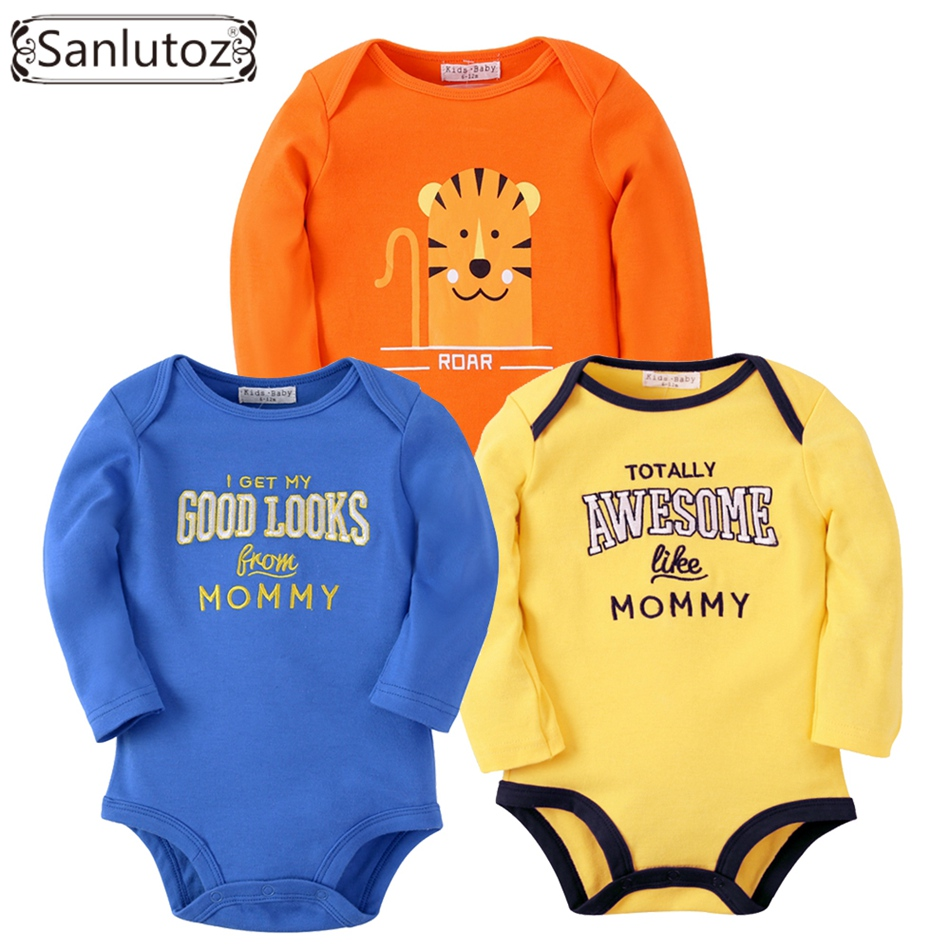 Sanlutoz Baby Rompers Set Newborn Clothes Baby Clothing Boys Girls Brand Cotton Jumpsuits Long Sleeve Overalls Coveralls Winter baby rompers cotton long sleeve 0 24m baby clothing for newborn baby captain clothes boys clothes ropa bebes jumpsuit custume