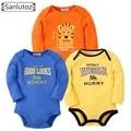 Sanlutoz Macacão de Bebê Conjunto Roupa de Recém-nascidos Do Bebê Roupas de Marca Meninos Meninas Macacões de Algodão de Manga Comprida Macacão Macacão de Inverno